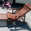 1930s bambo folding deck loung chair