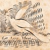 Calligraphy Dove Drawing with Odd Message collection Jim Linderman Unsolved Mystery