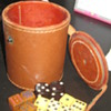 Vintage dice and dice roller