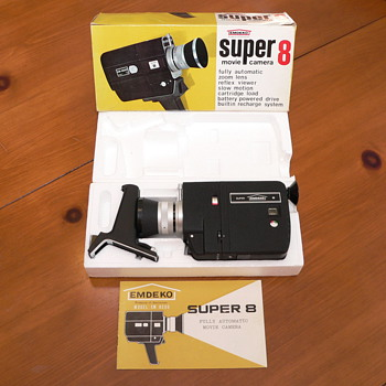 1967 Emdeko EM8500 Super 8 Camera with Box - Cameras