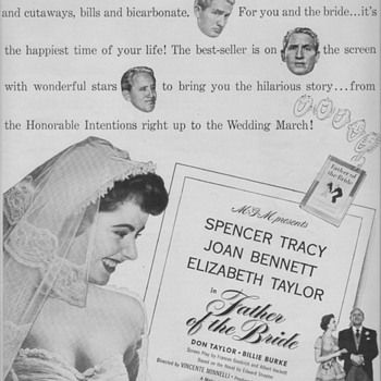1950 M.G.M. Movie Advertisement