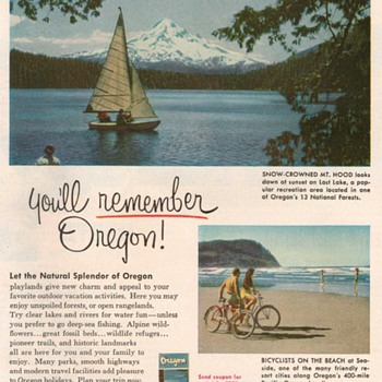 1953 - Oregon State Travel Advertisement - Advertising