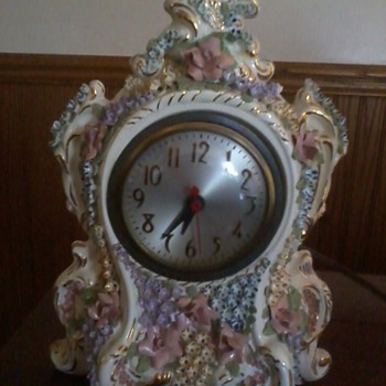 clock that looks hand painted