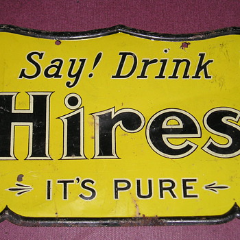 Hires tin sign.