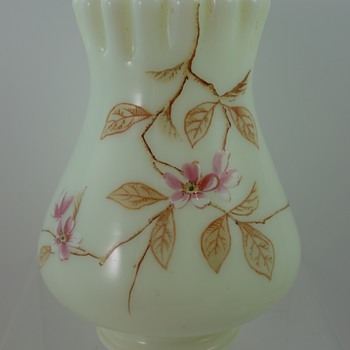 "Harrach ""Sawtooth"" vases, ca. 1890"