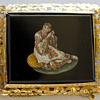 Micro Mosaic brooch depicts a lady taken from &quot;I Costumi d&#039;Italia&quot; by Bartolomeo Pinelli