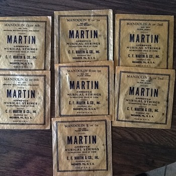 Vintage Martin Mandolin  strings  - Guitars