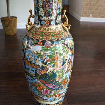 "What is this large oriental ""palace"" vase? - Asian"