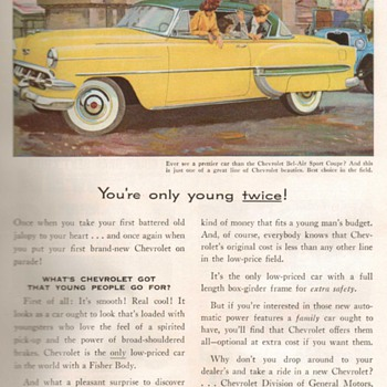 1954 - Chevrolet Bel-Air Advertisement - Advertising