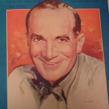 Radio Guide 1937 Al Jolson Cover - Paper