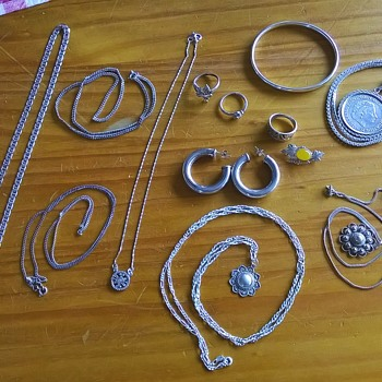 Today's Silver Haul, Flea Market Finds