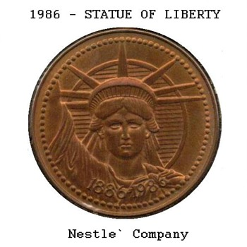 Statue of Liberty Commemorative Medal - Nestle' Co. - Advertising