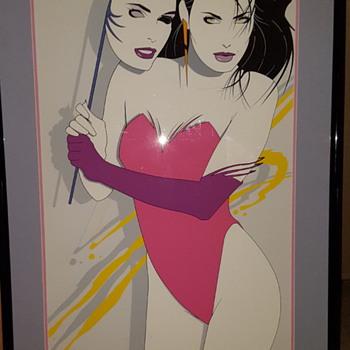 "Nagel Style Preciado limited print 1980s american psycho style 24"" x 48"" - Visual Art"