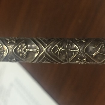 Sterling silver pen. Unknown.