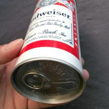 My Father's two unique Budweiser cans. Has anyone ever seen anything like these?