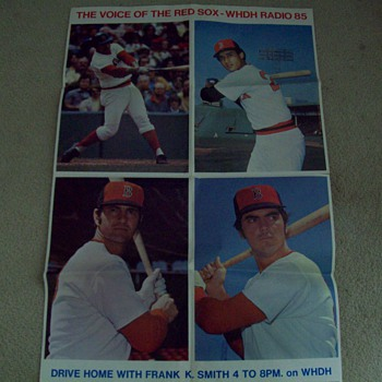 BOSTON RED SOX 1974 ACTION POSTER VINTAGE
