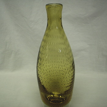 "Murano Amber Bubble Glass Bottle""XX Century""03415"