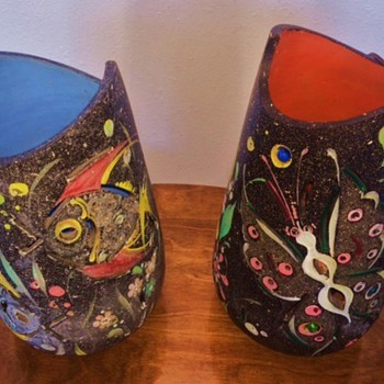 Mexican ceramic lamps - Art Pottery