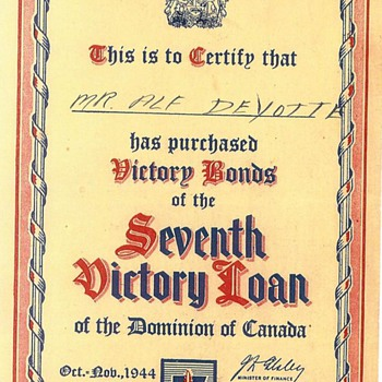 Victory Bonds - US Paper Money