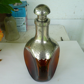 Brown Glass Decanter