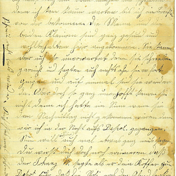 1879 Handwritten Letter, written in German - Paper