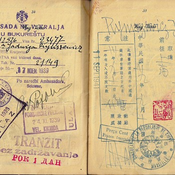 WW2 officially used Polish passport - Paper