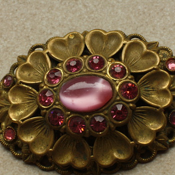 Twenties czech glass brooch - Costume Jewelry