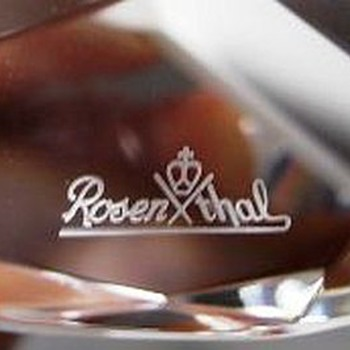 ROSENTHAL - Boxed Heart Paperweight (Signed) - Glassware