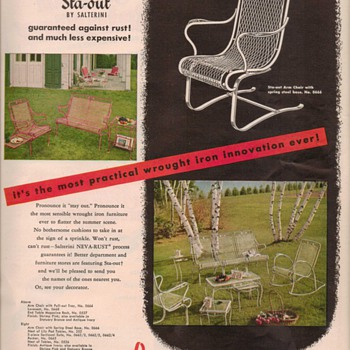 1950 Salterini Furniture Advertisements - Advertising