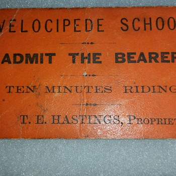 "1870 Velocipede School ""Ten Minutes Riding"""