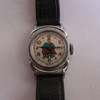 1948 New Haven Ronded Unique Case Superman Wrist Watch