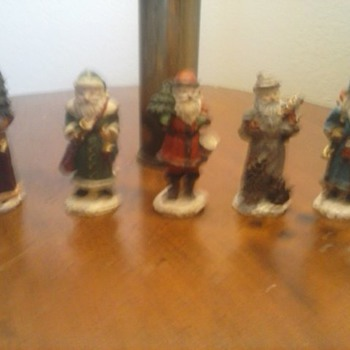 Lead Santa Claus Set of 5