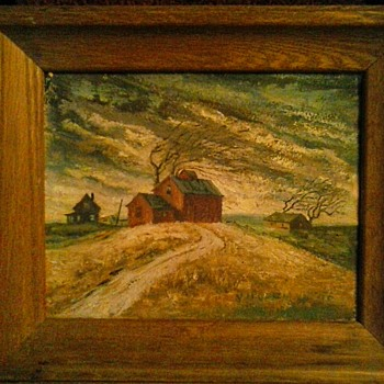 "Two Small Paintings By V. Hoffman 8""x 10"" and 10""x 14""/Circa 1956-1969 - Visual Art"