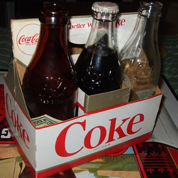 1963 coke cardboard carrier. - Coca-Cola