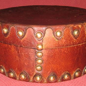 1800's Leather Collar Box - Furniture