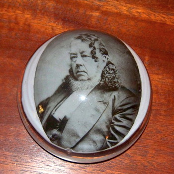 Great great grandfather's picture in paperweight