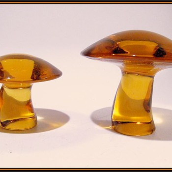 VIKING GLASS -- Mushrooms