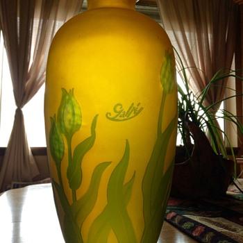 Circa 1900 Emile Galle Tulip Vase - Art Glass