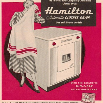 1950 - Hamilton Clothes Dryer Advertisement - Advertising