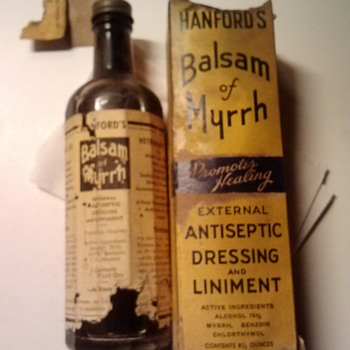 Hanford's Balsam of Myrrh - Bottles