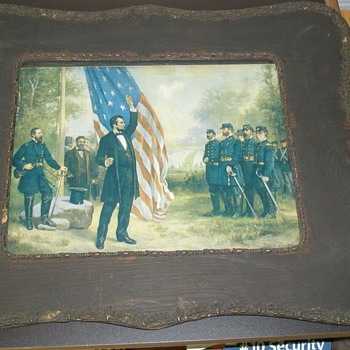 Lincoln Addressing Soldiers