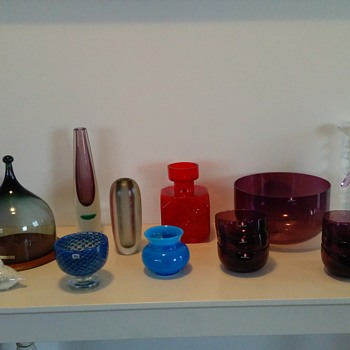 Hadeland,Iittala,Boda etc finds.