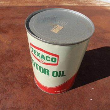 Texaco Motor Oil Can - Petroliana