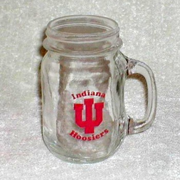 "Indiana University ""Hoosiers"" Glass Mug"