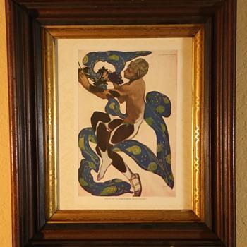 Leon Bakst 1916 Print from Serge de Diaghileff's Ballet Russe Souvenir - Visual Art