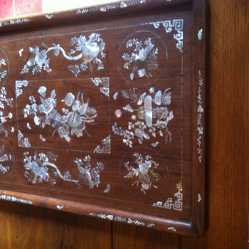 TLC on opium tray 19th century Indochina.