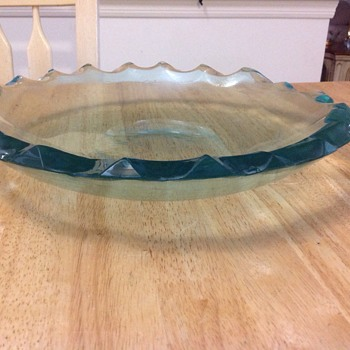 teal green candy dish