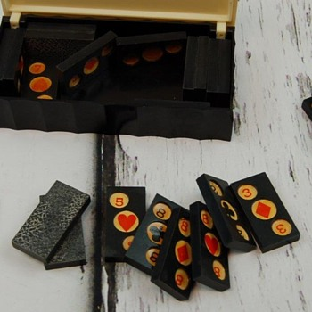 Bakelite Playing Card Domino Tiles Vintage Gaming