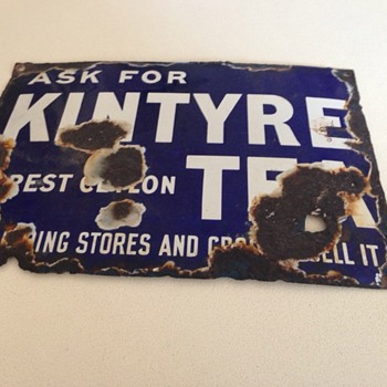 Kintyre Ceylon Tea Sign