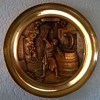 """Brass Charger Entitled """"The Cooper"""" Thrift Shop Find $5.00"""